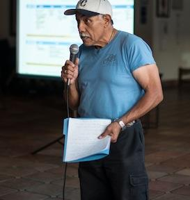 Arturo Velarde at a community meeting on the transportation sales tax. ©2015 Tiburon